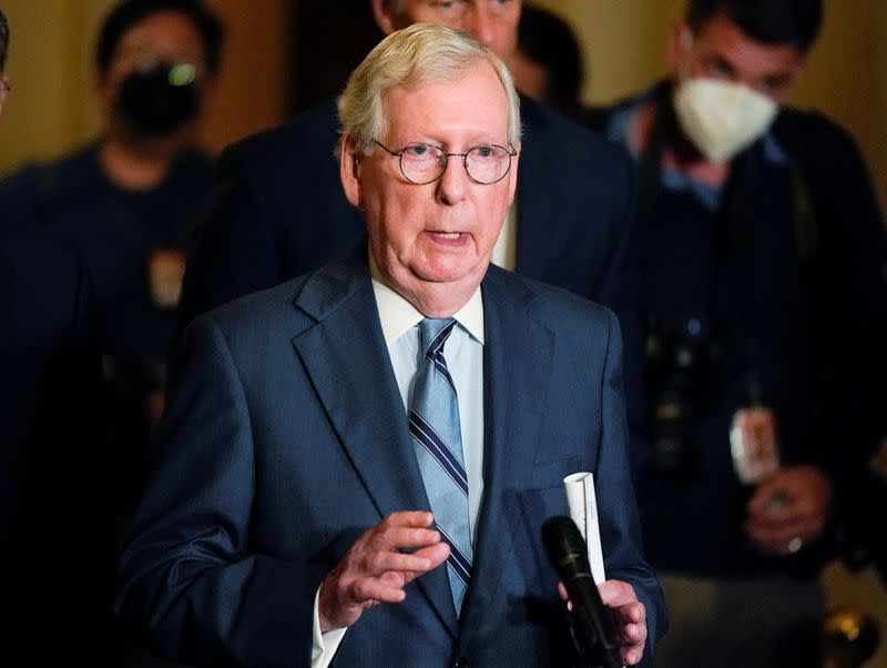 U.S.Senate Republicans hold weekly policy lunch at the U.S. Capitol in Washington