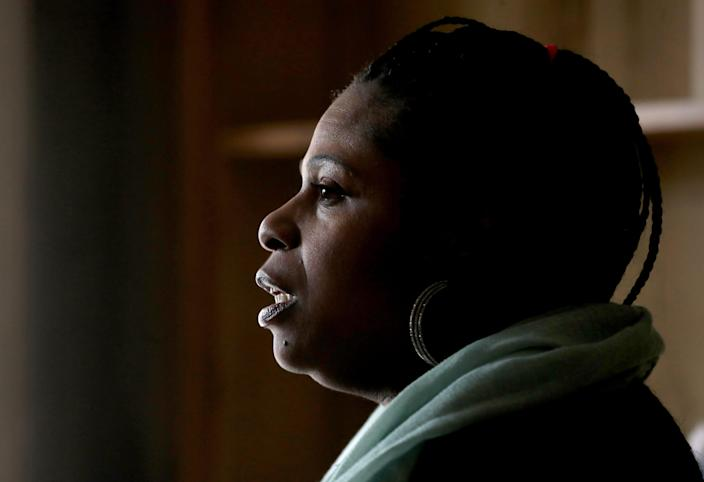 Samaria Rice's 12-year-old son Tamir Rice was killed by a Cleveland police officer in 2014.