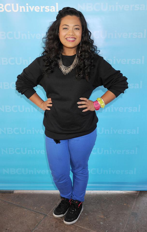 """Cheesa (""""<a href=""""http://tv.yahoo.com/voice/show/47012"""">The Voice</a>"""") arrives at NBC Universal's 2012 Summer Press Day at The Langham  Huntington Hotel and Spa on April 18, 2012 in Pasadena, California."""