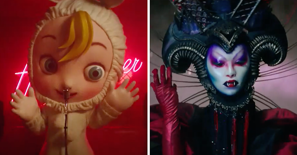 The Masked Singer's Baby and Vampire.