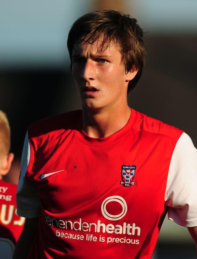Ben Davies in action on loan for York in 2013-14