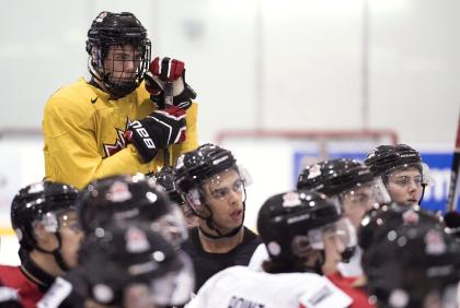 McDavid stands out for his skill level and smarts, while staying humble amid the draft hype frenzy. (AP)