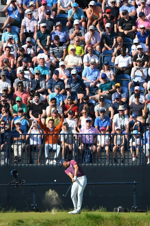 Crowd pleaser: Jordan Spieth chased down British Open leader Louis Oosthuizen in front of huge crowds at Royal St. George's