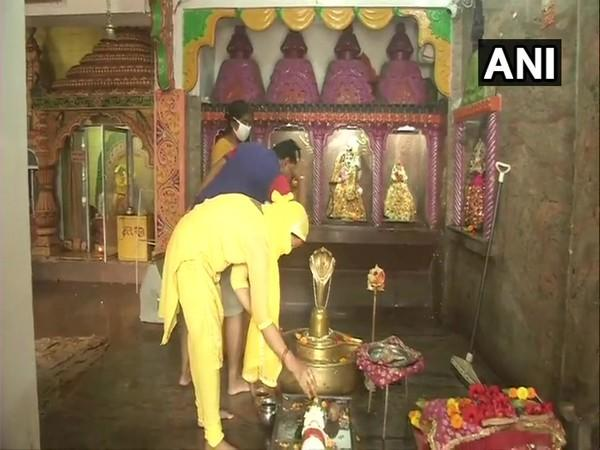 A temple reopened for devotees in Ranchi, Jharkhand. (Photo/ANI)