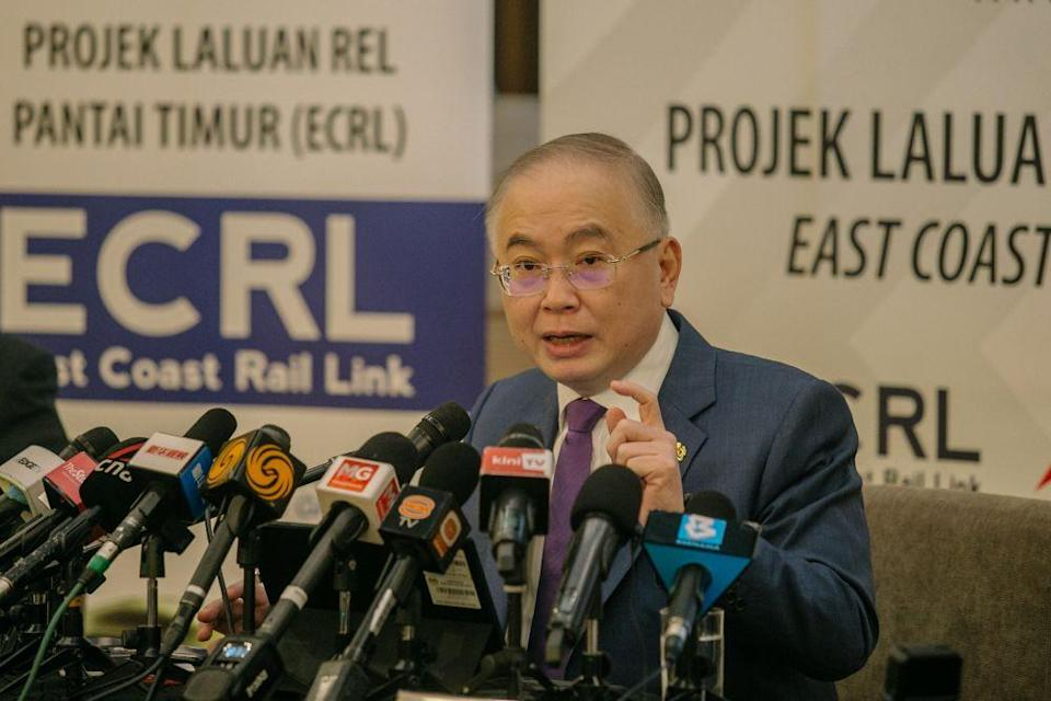 In a press conference to announce the realignment, Transport Minister Datuk Seri Wee Ka Siong said that the project, now dubbed ECRL 3.0, is an improved version which would benefit the public and businesses. — Picture by Firdaus Latif