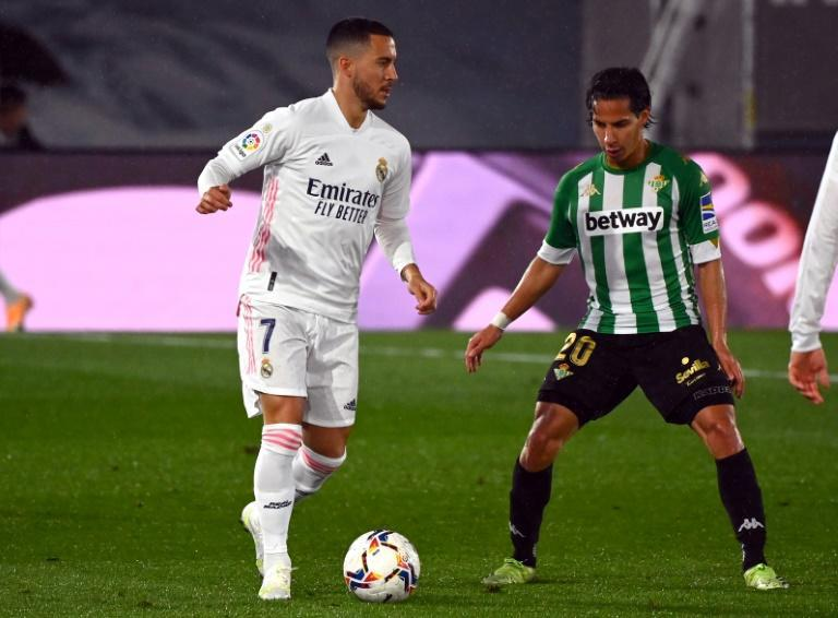 Eden Hazard came off the bench to play 15 minutes against real Betis on Saturday, his first appearance in almost three months