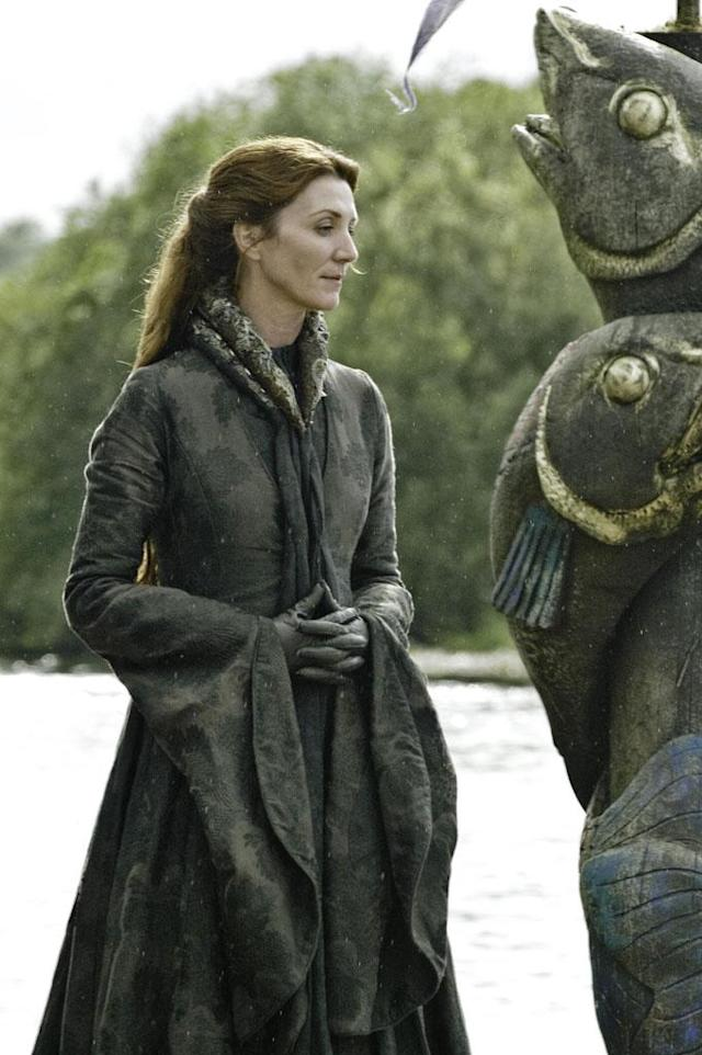 With her children scattered to the wind, Catelynn Stark (Michelle Fairley) has the weight of the world on her shoulders.