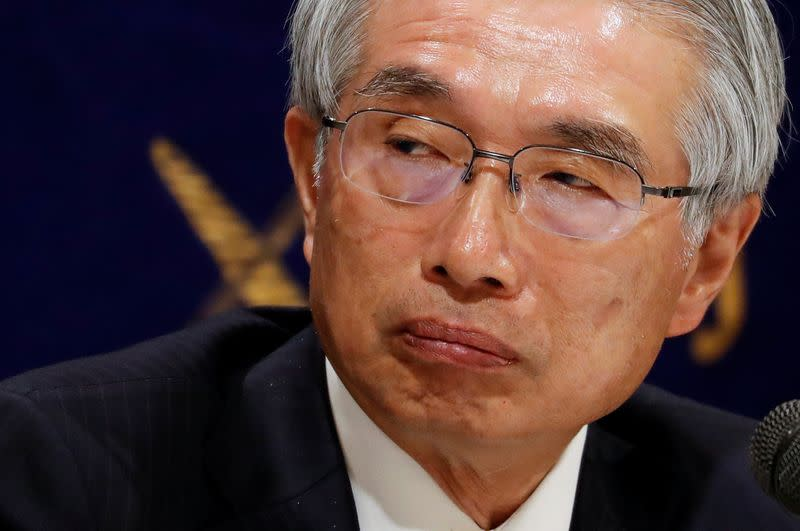 FILE PHOTO: Junichiro Hironaka, chief lawyer of the former Nissan Motor chairman Carlos Ghosn, attends a news conference at Foreign Correspondents' Club of Japan in Tokyo