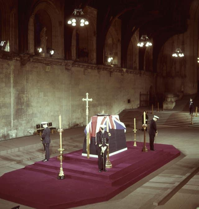 Churchill's lying in state