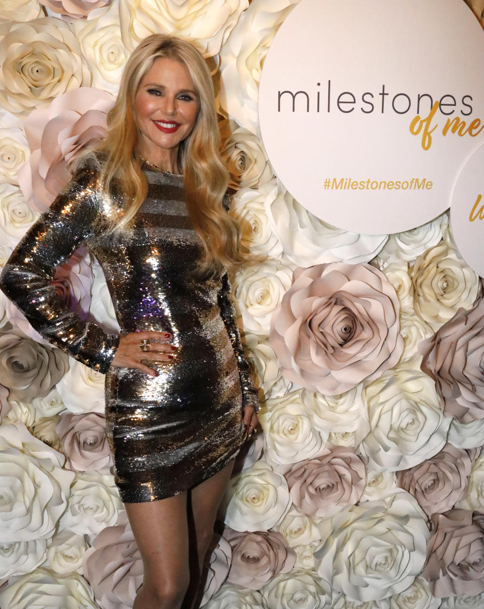 """Christie Brinkley celebrates her birthday and the launch of her """"Milestones of Me"""" campaign in New York City. (Photo: Getty Images)"""