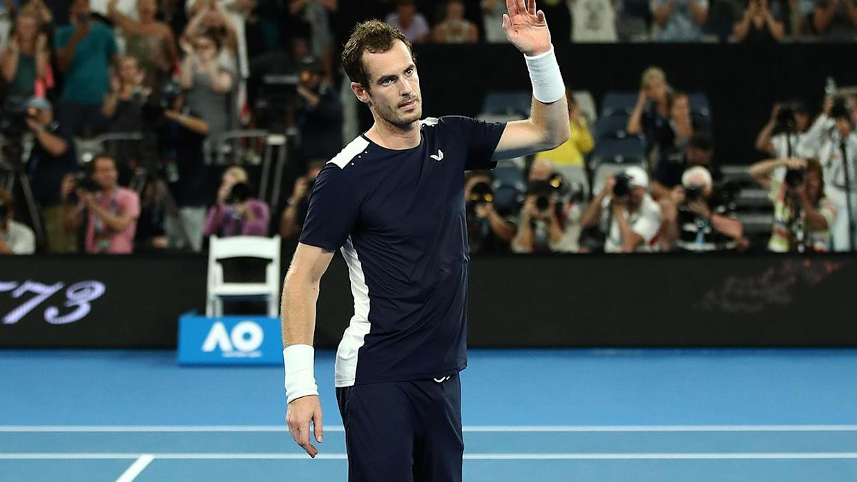 Andy Murray after his first round loss to Roberto Bautista Agut. (Photo by Julian Finney/Getty Images)