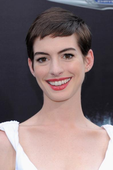 Actress Anne Hathaway attends 'The Dark Knight Rises' New York Premiere at AMC Lincoln Square Theater on July 16, 2012 in New York City. (Photo by Larry Busacca/Getty Images)