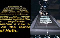 <b>Star Wars</b> A long time ago in a galaxy far, far away titles were tedious - then the opening 'crawl' of 'Star Wars' swept across the screen and made the simple act of reading as cinematic as any other part of the film. These titles (actually from 'The Empire Strikes Back') were produced surprisingly DIY-ish by slowly tracking a camera along a 6 ft piece of text.