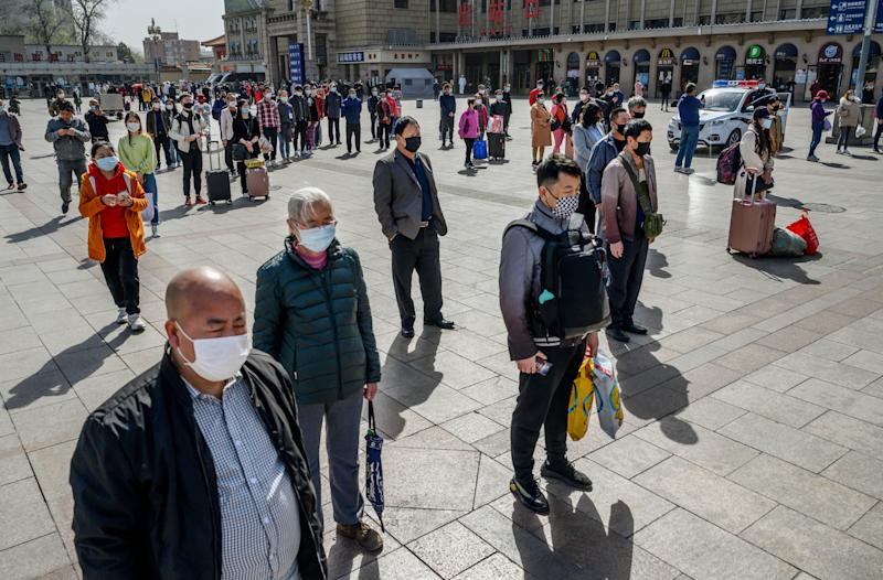 China fell silent on Saturday to remember the thousands of people who died during the coronavirus outbreak. (Photo: Kevin Frayer via Getty Images)