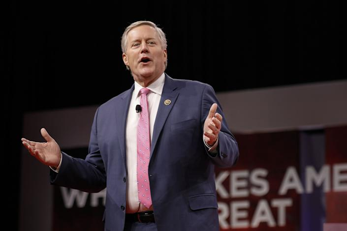 Representative Mark Meadows, a Republican from North Carolina, speaks during the Conservative Political Action Conference (CPAC) in National Harbor, Maryland, U.S., on Thursday, Feb. 28, 2019. (Photo: Aaron P. Bernstein/Bloomberg via Getty Images)