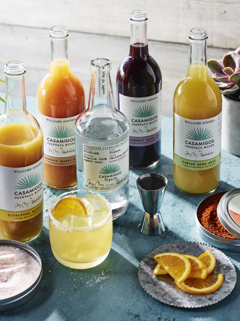 WILLIAMS SONOMA AND CASAMIGOS TEQUILA AND MEZCAL LAUNCH PREMIUM COCKTAIL MIXES, SALTS AND GIFT SET PERFECT FOR SUMMER CELEBRATIONS