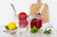 """<p>No amendments are needed to this fantastic recipe. In just five minutes, you've got a cherry and mint sorbet that stacks up to the <a href=""""https://www.thedailymeal.com/eat/best-ice-cream-stand-every-state-gallery?referrer=yahoo&category=beauty_food&include_utm=1&utm_medium=referral&utm_source=yahoo&utm_campaign=feed"""" rel=""""nofollow noopener"""" target=""""_blank"""" data-ylk=""""slk:best ice cream shops in America."""" class=""""link rapid-noclick-resp"""">best ice cream shops in America.</a></p> <p><a href=""""https://www.thedailymeal.com/best-recipes/cherry-mint-sorbet-easy?referrer=yahoo&category=beauty_food&include_utm=1&utm_medium=referral&utm_source=yahoo&utm_campaign=feed"""" rel=""""nofollow noopener"""" target=""""_blank"""" data-ylk=""""slk:For the Tart Cherry and Mint Sorbet recipe, click here."""" class=""""link rapid-noclick-resp"""">For the Tart Cherry and Mint Sorbet recipe, click here.</a></p>"""