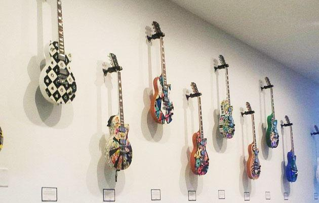 The pop-up Gibson Guitar installation at The Jeremy. Photo: Be