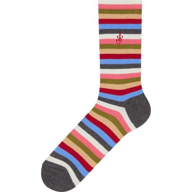"<p>JW Anderson x Uniqlo Socks, $4.90, <a href=""https://www.uniqlo.com/jwanderson/20fw/us/en/women/"" rel=""nofollow noopener"" target=""_blank"" data-ylk=""slk:available here"" class=""link rapid-noclick-resp"">available here</a>. </p>"