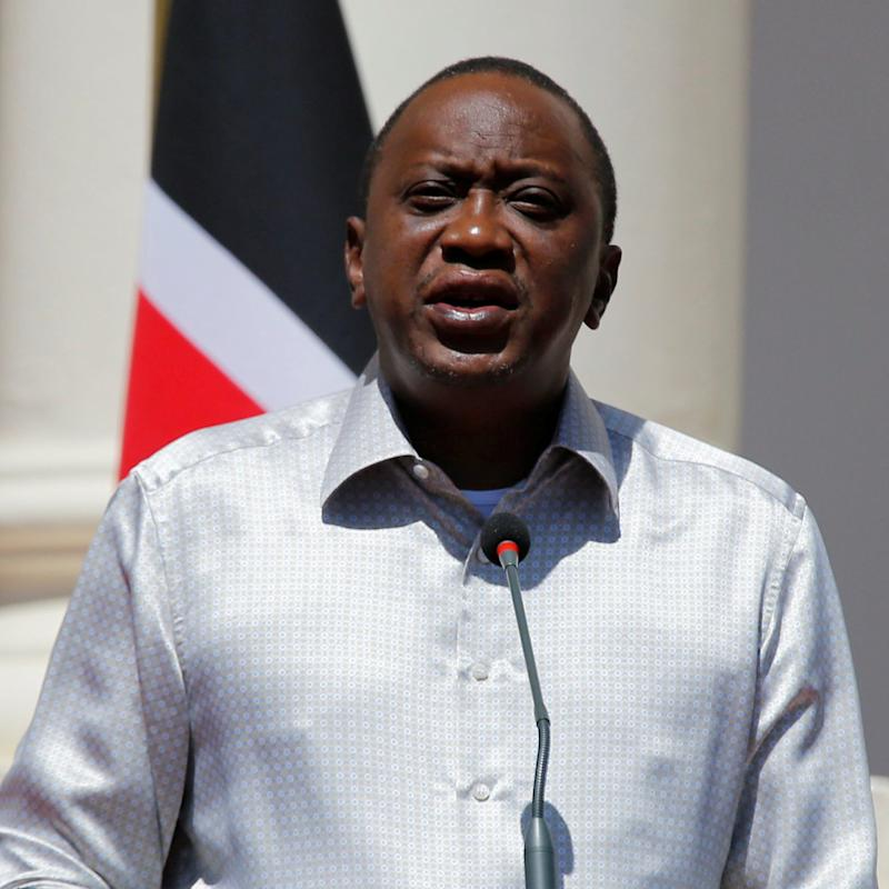 Kenya's President Uhuru Kenyatta addresses a news conference - Credit: Reuters