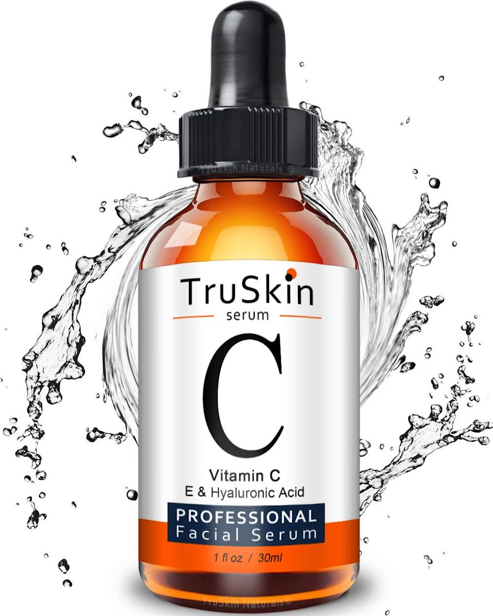 """<h3>TruSkin Naturals Vitamin C Serum</h3><br>I'm choosy when it comes to skincare — less so because of my beauty job perks and more so because my skin is extremely acne-prone and sensitive. (And for the record, pricey stuff breaks me out just as often as drugstore products!) However, I couldn't ignore the, oh, you know, <em>27,000 reviews </em>that laud this $20 serum with the impressive (if true) before-and-after pics to back it up. After trying another <a href=""""https://amzn.to/34Vo5RT"""" rel=""""nofollow noopener"""" target=""""_blank"""" data-ylk=""""slk:popular vitamin C serum"""" class=""""link rapid-noclick-resp"""">popular vitamin C serum</a> from Amazon that had a really strong paint-fume-like smell that I was not keen to rub on my face, I was excited to give this one a shot. <br><br>Once it arrived, I applied a few drops onto the back of my hand and...nothing, no smell. It was totally clear, too — a good sign! A more skeptical sign: It was spotted on Khloé Kardashian's Instagram. Questionable. I was still not expecting it to knock my socks off in any way, especially when my <a href=""""https://www.refinery29.com/en-us/2019/01/220850/tatcha-violet-c-brightening-serum-review"""" rel=""""nofollow noopener"""" target=""""_blank"""" data-ylk=""""slk:fave brightening serum"""" class=""""link rapid-noclick-resp"""">fave brightening serum</a> is over four times what TruSkin's costs. However, after a week of testing it, I had yet to notice a breakout or irritation of any kind. Since I have some hyperpigmentation as a result of acne scarring, I didn't expect to see any visible results even after a month of testing it; these things just take a lot of time. I am optimistic, though, that it might be a true diamond in the rough — so, I'm excited to stick with it and see if it rivals my beloved Tatcha.<br><br><strong>Final Verdict: Cart</strong> <strong>(but not promising any results on its behalf)</strong><br><br><strong>TruSkin Naturals</strong> Vitamin C Serum for Face with Hyaluronic Acid, Vitamin, $, available at <a href="""