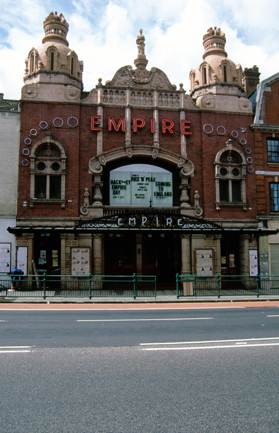 Exterior of Hackney Empire, East London UK 2000. (Photo by: Photofusion/Universal Images Group via Getty Images)