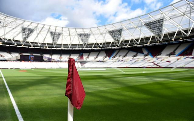 <span>West Ham's London Stadium was raided early on Wednesday morning, but no arrests were made</span> <span>Credit: PA </span>