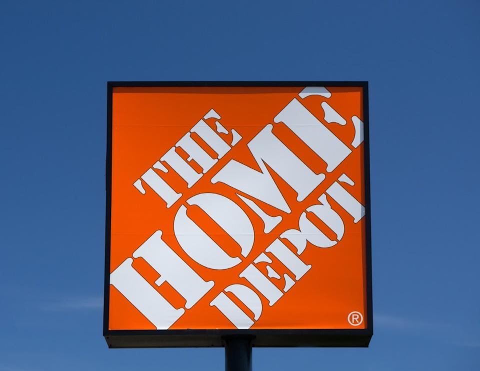 the home depot sign