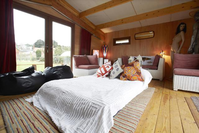 MANDATORY CREDIT: *see individual credits/REX Shutterstock  Editorial use only. No stock Mandatory Credit: Photo by Cuprinol/REX/Shutterstock (5593514af) The interior of the 'Hay Brow' shed 'Shedcations', Britain  - Feb 2016 FULL COPY: http://www.rexfeatures.com/nanolink/s24l  It is a great place to lay your (s)head....  Adventurous Brits can now book the ultimate ?Shedcation? thanks to a collaboration between Airbnb and the 2016 Shed of the Year sponsors Cuprinol.  To launch the annual Shed of the Year competition, Brits are being given the chance to book their very own ?shedcation? at some of the UK?s most spectacular sheds.  The shed ?wishlist?, which has been curated by founder of Cuprinol?s Shed of the Year, Uncle Wilco, is encouraging people to book a stay at a number of sheds through the Airbnb website.  The wishlist is made up of previous Shed of the Year finalists as well as some new hopefuls taking part in this year?s competition.