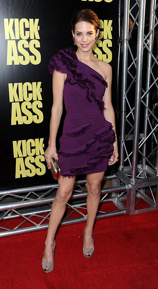 "<a href=""http://movies.yahoo.com/movie/contributor/1809727742"">Lyndsy Fonseca</a> at the Los Angeles premiere of <a href=""http://movies.yahoo.com/movie/1810063108/info"">Kick-Ass</a> - 04/13/2010"