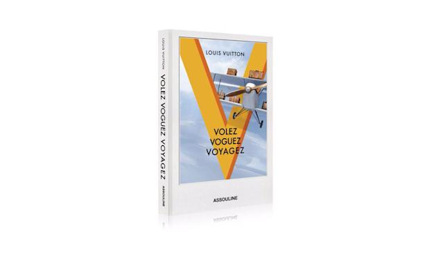 "<p>Louis Vuitton Book, $50, <a href=""http://us.louisvuitton.com/eng-us/products/volez-voguez-voyagez-louis-vuitton-album-013697"" rel=""nofollow noopener"" target=""_blank"" data-ylk=""slk:louisvuitton.com"" class=""link rapid-noclick-resp"">louisvuitton.com</a> </p>"