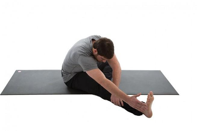 Bent-Knee Straddle Reach and Twist 3