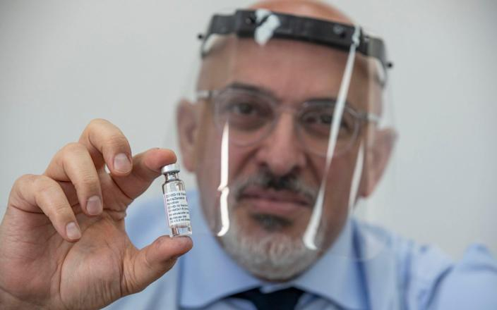 Nadhim Zahawi told The Telegraph that ministers are expecting up to eight vaccines to be available by the autumn - Jeff Gilbert