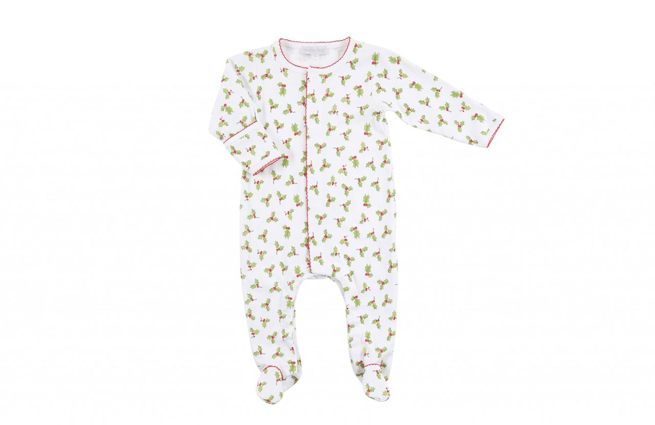 <p>Forget novelty pjs, this luxe Crimbo baby grow is the perfect festive attire for your bubba. </p>