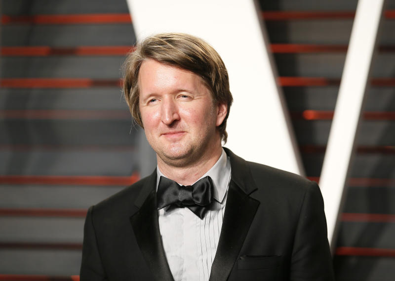 Director Tom Hooper arrives at the Vanity Fair Oscar Party in Beverly Hills, California February 28, 2016. REUTERS/Danny Moloshok
