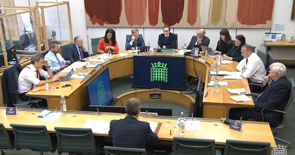 Foreign Secretary Dominic Raab gave evidence to MPs (House of Commons/PA) (PA Wire)