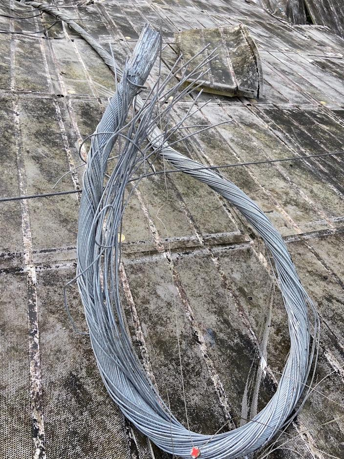 arecibo observatory Cable damage
