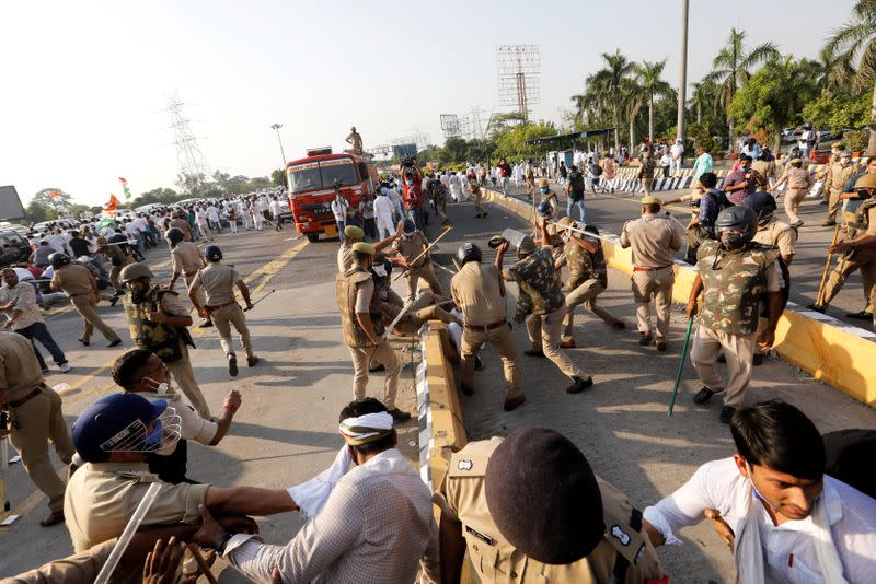 Protest after the death of a rape victim in Noida