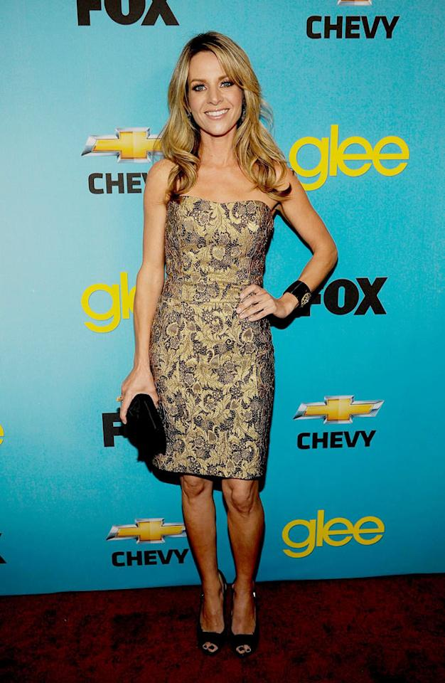 """<a href=""""/jessalyn-gilsig/contributor/62710"""">Jessalyn Gilsig</a> (""""Terri Schuester"""") arrives at Fox's <a href=""""/glee/show/44113"""">""""Glee""""</a> Spring Premiere Soiree at Chateau Marmont on April 12, 2010 in Los Angeles, California."""