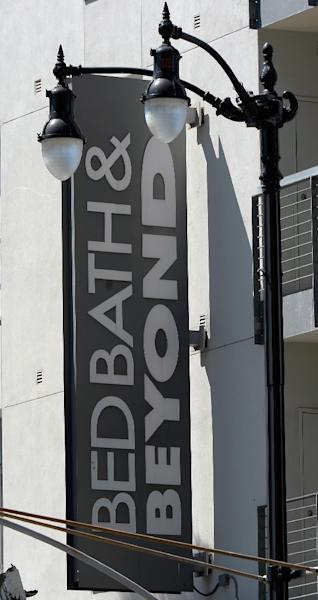 Bed Bath & Beyond shares surged 13.5 percent after it projected flat earnings in 2019 instead of the decline that had been previously seen (AFP Photo/KEVORK DJANSEZIAN)