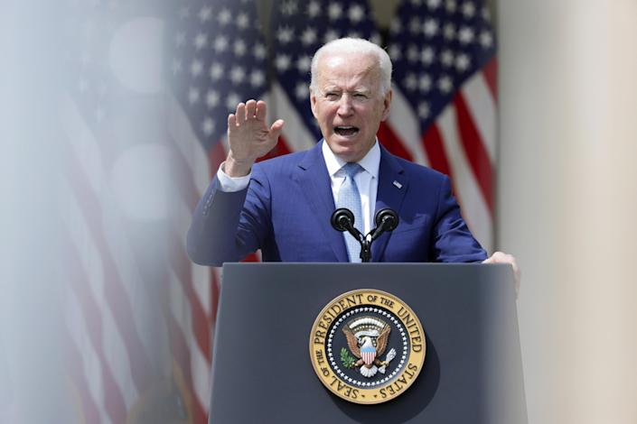 IMAGE: President Joe Biden speaks about gun control at the White House (Alex Wong / Getty Images)