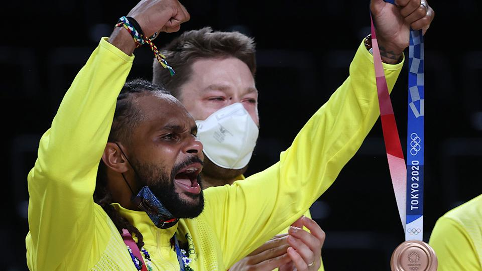 Australia's men's basketball team will receive a nice bonus after winning their first medal in Olympic history in Tokyo. (Photo by Kevin C. Cox/Getty Images)