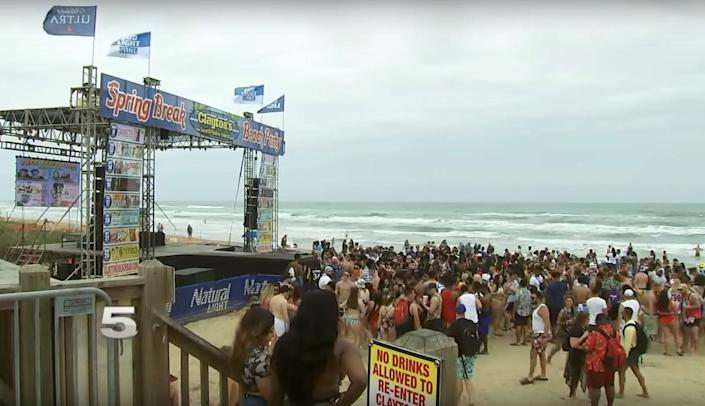 south padre island spring break
