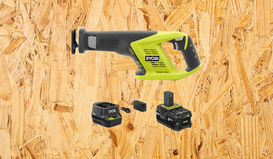 The kit also comes with a battery and charger. (Photo: Home Depot)