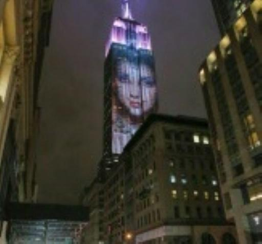 Projektion am Empire State Building
