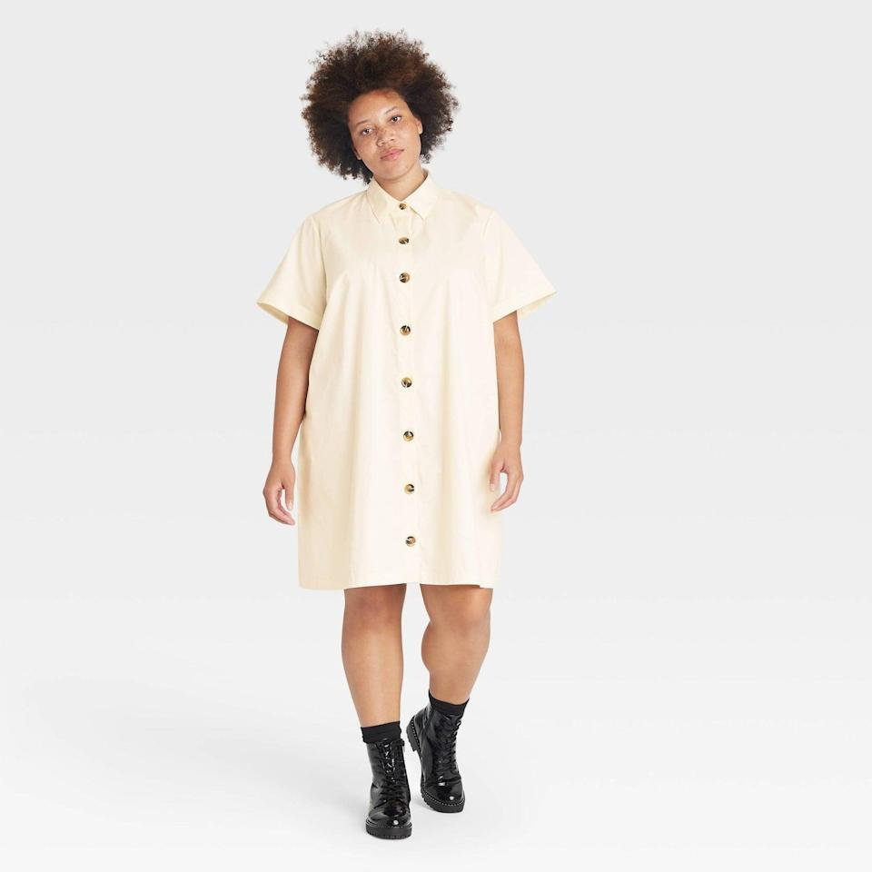 <p>This <span>Who What Wear Trapeze Dress</span> ($37) is polished enough for the office, yet it'll also look cool and effortless for happy hour. Complete the look with some boots or some low-heeled sandals.</p>