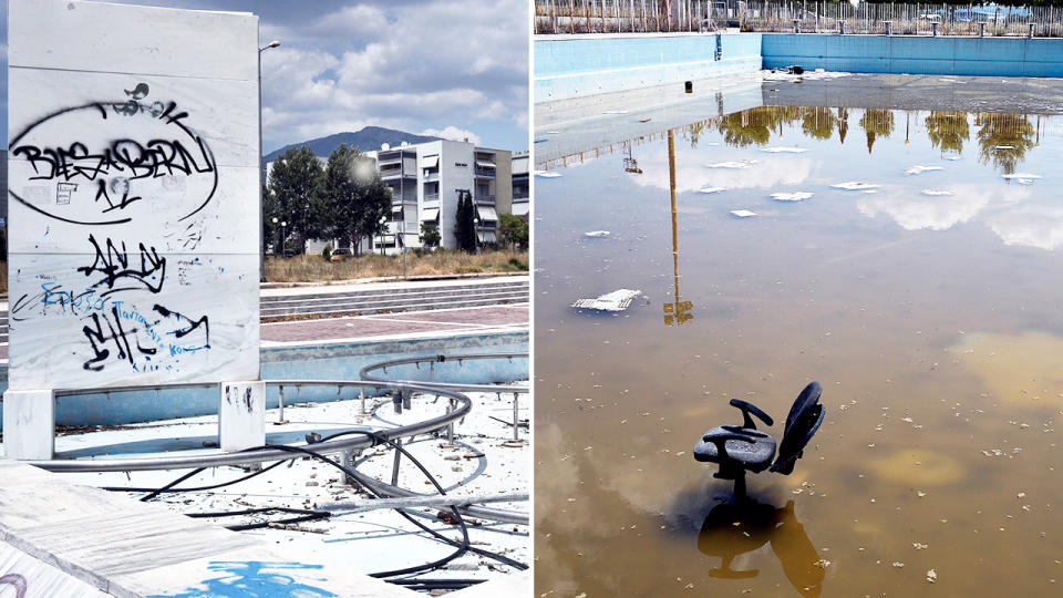 Some of the most iconic Olympic Games venues now lie in wrack and ruin. Image: Getty