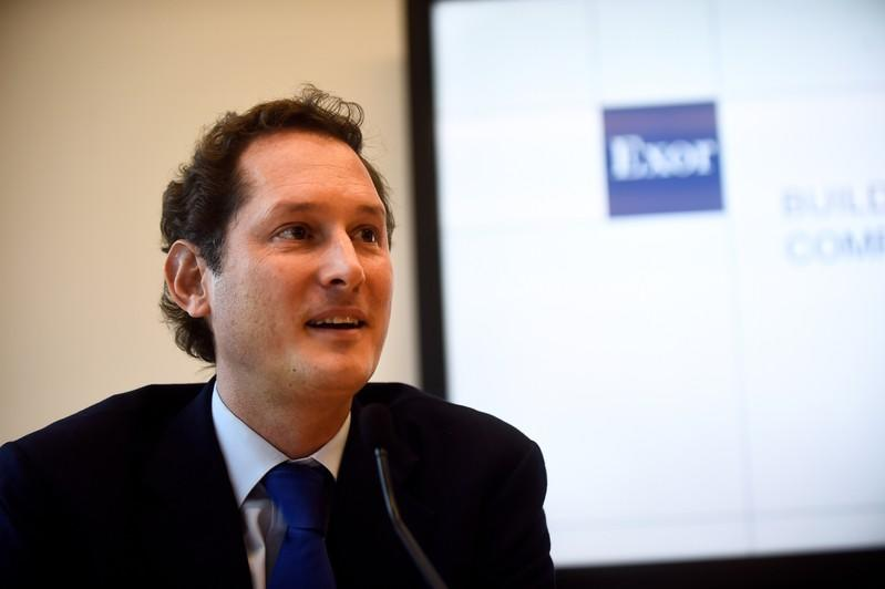 Fiat Chairman Elkann attends investors day held by holding group in Turin