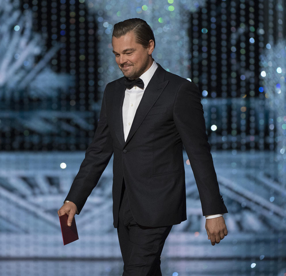 "<p>Look at that smirk. That's the smirk of a man who's saying to himself, ""I've got one of my own."" That's the smirk of a man who has ascended to manifesting his dreams of Oscar gold into reality, and now gets to stride across the stage a year after his win and gift an actress a statue of her own. That's the smirk of a man who is loving it — all of it. The show, the awards, but most of all, the walk. (Photo: Eddy Chen/ABC via Getty Images)<br /><br /></p>"