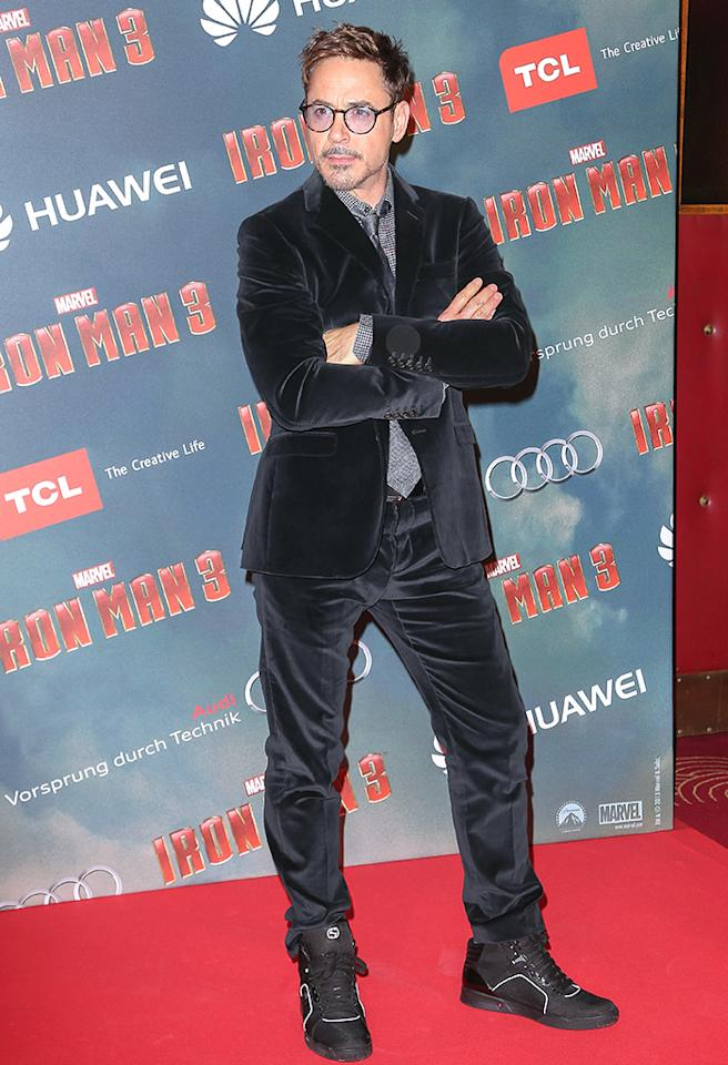 'Iron Man 3' photo call and premiere at Grand Rex Theater in Paris, France. ID NUMBER: 0383237 Pictured: Robert Downey Jr. Ref: SPL526242 140413 Picture by: KCS Presse / Splash News Splash News and Pictures Los Angeles: 310-821-2666 New York: 212-619-2666 London: 870-934-2666 photodesk@splashnews.com